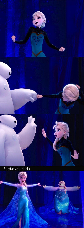 Kkkkkkkkk até a Elsa