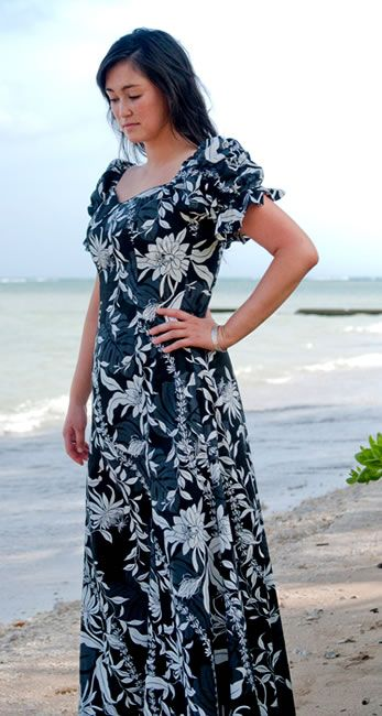 hawaiian wedding dresses with sleeves  punahou aikane black ...
