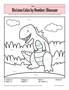 math worksheet : monster math printables  sheets on color by number dinosaur  : Division Worksheets For Kids