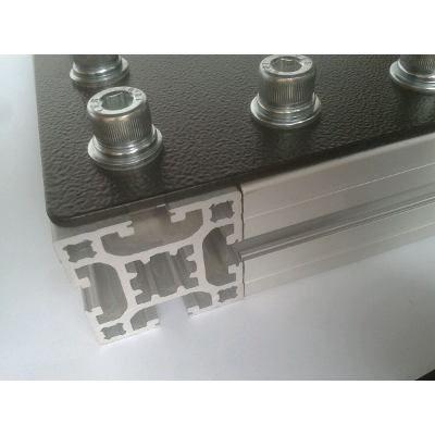 Placa de conex o 90 para perfil de alum nio 40x40 e - Placa de aluminio ...