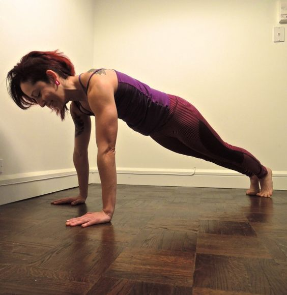 Grace demoing the Standard Push-up.