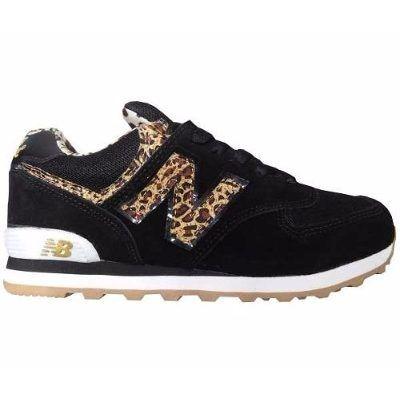Tênis New Balance Ml574 Preto Oncinha Feminino - R$ 129,90
