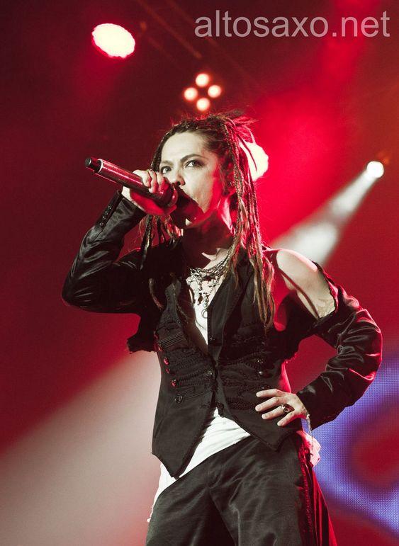 Hyde from L'Arc-en-Ciel performs at Le Zenith on April 14, 2012 in Paris, France.