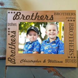 Personalized Brothers Picture Frame Save 15% with code PINTEREST at kennebug.com