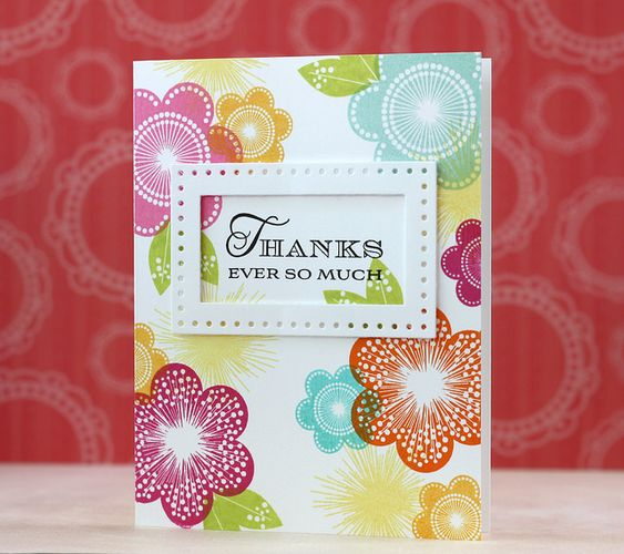 Thanks Ever So Much Card by Laura Bassen for Papertrey Ink (June 2014)