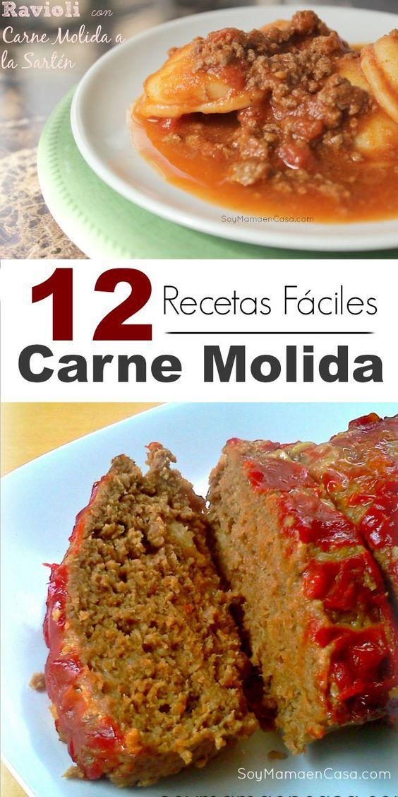 12 ricas recetas f ciles y deliciosas con carne molida for Platillos rapidos y economicos