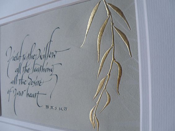 Basho. Calligraphy, Georgia Angelopoulos
