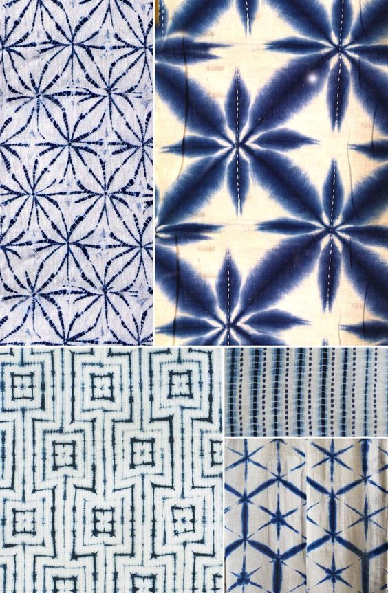 shibori is known as the pleat and bind technique. It involves binding the fabric in very close sections