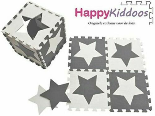 Happykiddoos Jigsaw Puzzle Foam Mat Play Mat Foam Lock Star Grey White In 2020 Foam Mats Playmat Foam Tiles