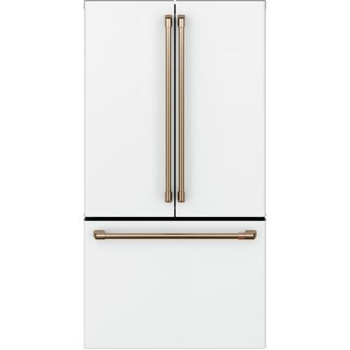 Cafe 23 1 Cu Ft Counter Depth French Door Refrigerator With Ice Maker Fingerprint Resistant Matte White Energy Star Lowes Com Counter Depth French Door Refrigerator French Door Refrigerator Counter Depth Refrigerator