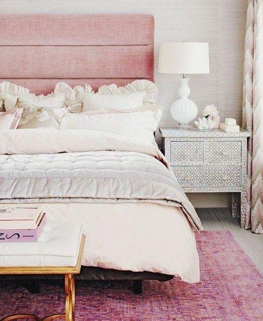 Pink Headboard Bedroom Decor