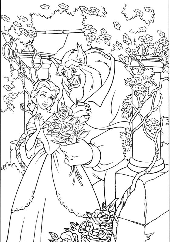 Coloring, Belle and Princess coloring pages on Pinterest