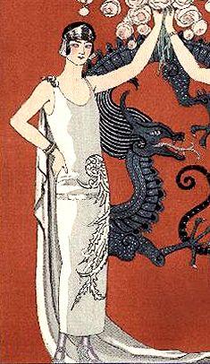 10-11-11  1920s Fashion  Gazette du Bon Ton, 1924 - would love to have worn something like this.: