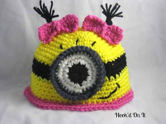 Free Crochet Pattern For Girl Minion Hat : Adorable Crochet Minion Hat by HookdOnIt on Etsy, USD17.00 ...