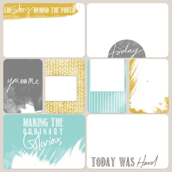 Today Was Hard card! - Creating Paper Dreams: Project life free download
