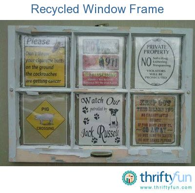 Upcycle an old wood window into a wonderful outdoor picture frame.