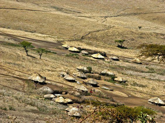 Masaai-village, Tanzania. Photo by: Letty Visser
