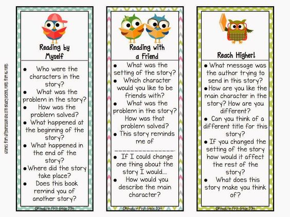 Comprehension Question Bookmarks