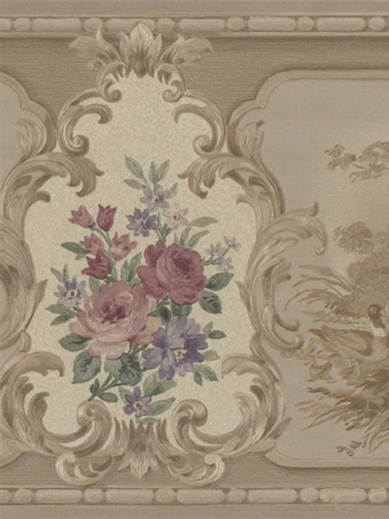 For a refined look, try this pink, red and purple rose wallpaper from the book Vintage Rose. AmericanBlinds.com