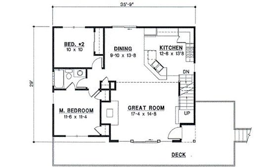 Small Houses Floor Plans And Small House Plans On Pinterest