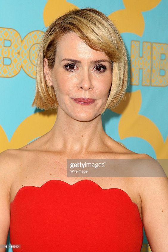Actress Sarah Paulson attends the HBO'S Post Golden Globe Party held at The Beverly Hilton Hotel on January 11, 2015 in Beverly Hills, California.