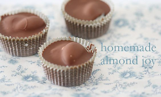 Homemade Almond Joys - very simple