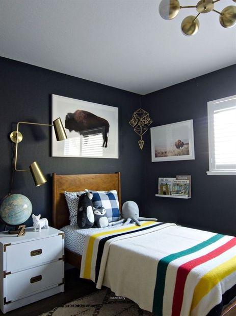 Nice 38 Cute Boys Bedroom Design For Cozy Bedroom Ideas More At Homystyle Com Grey Bedroom Decor Wall Decor Bedroom Boy Bedroom Design