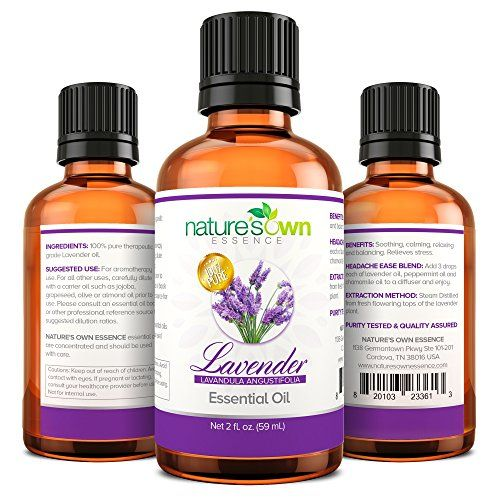 Premium European Lavender Essential Oil 2oz (59ml) 100% Natural Pure Undiluted Therapeutic Grade Aromatherapy Essential Oils. Used for Relaxation, Tranquil Sleep, Headache and Migraine Relief, Hair Growth and Scalp Issues. Soothing and Calming for Stress Reduction. Add to Massage Oil, Bath Salts, Lotions, Body Wash, Body Splash and Hand Soap. Make Your Own Linen Spray and Use With Your Pet Dogs. Use in Making All Natural Non-Toxic Insect Repellent. 100% Satisfaction Guaranteed Nature's Own…