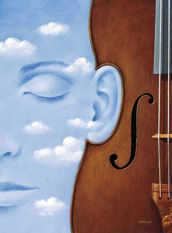 Painting by Rafal Olbinski: