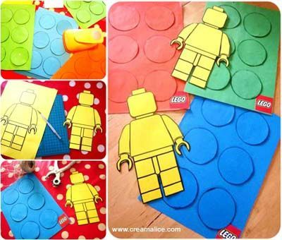 ✄ DIY Guirlande Anniversaire LEGO / DIY LEGO Birthday Garland ★  http://www.creamalice.com/Coin_conseils/1-loisirs_creatifs_2013/4-Tuto_Guirlande_Anniversaire_LEGO/Tuto_DIY_Guirlande_Anniversaire_LEGO.htm