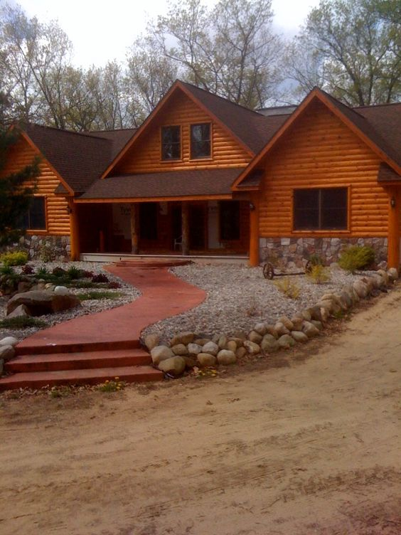 Look how beautiful these 2x8 cedar log siding finished E log siding