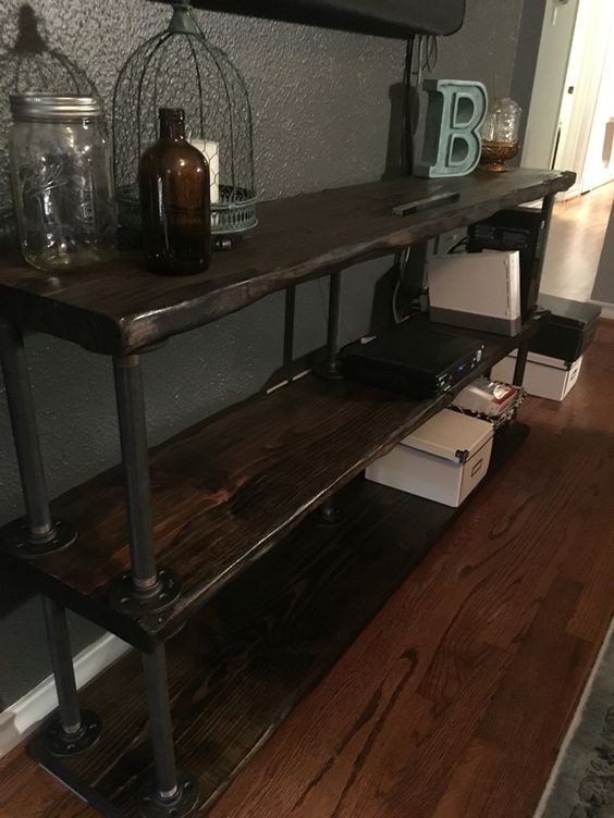 Galvanized Pipe Shelving And Pipes On Pinterest