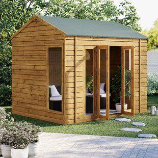 Buy Summer Houses Log Cabins Wayfair Co Uk In 2020 Corner Summer House Summer House Summer House Design