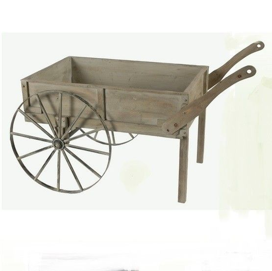 Wooden Wheelbarrow, $100.00