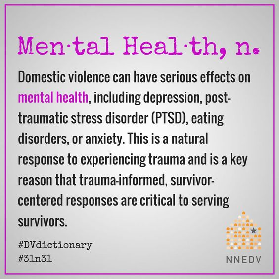 October 12 - Understanding how domestic violence effects the mental health of survivors can shift the stigma associated with mental health & trauma #31n31 #DVdictionary #DVAM2017