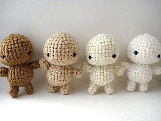 Simple Amigurumi Doll : DIY Decorate Your Own Crochet Amigurumi Moon Man Simple ...