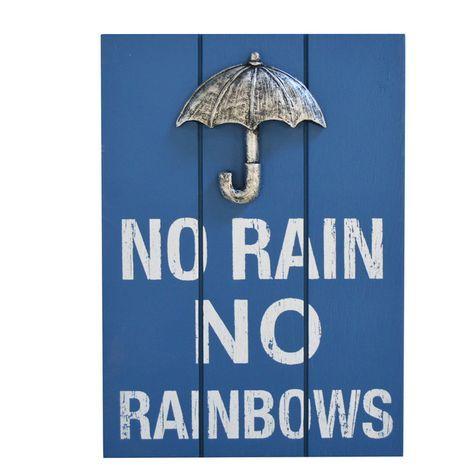 """No Rain No Rainbows"" Wall Art. #shopko #bestroomever2016"