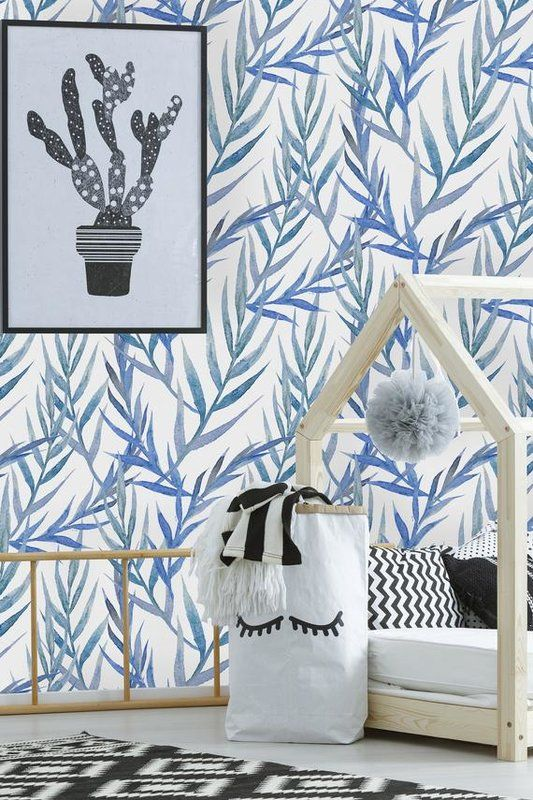 Mazie Removable Willow Leaves 8 33 L X 25 W Peel And Stick Wallpaper Roll Peel And Stick Wallpaper Wallpaper Roll Removable Wallpaper