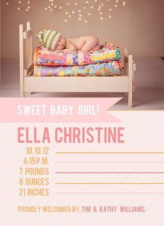 Birth Announcement Templates for Newborn Photographers