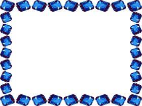 Scrapbook Frames and Borders | photo: FRAME gem-stone-glass-effect-blue-jewel-scrapbook-frame-border ...