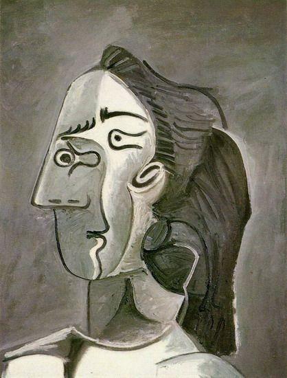 Picasso - 1962, Tête de femme (Jacqueline):