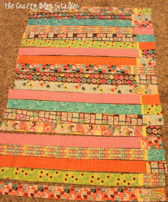 Scrap Quilt Patterns For Beginners : How to Make a Fabric Strip Rag Quilt Strip rag quilts, Quilt and Cotton fabric