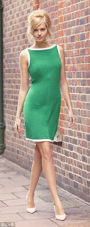 Green shift dress, Banana Republic - I tried this on.  It wasn't flattering on me, but is cute on the model.