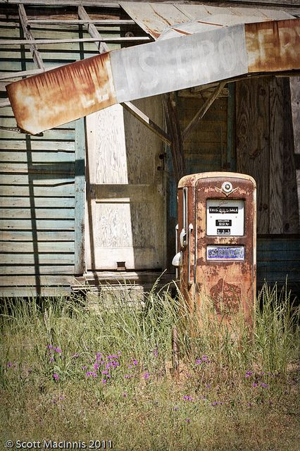 old country store and rusty gas pump...somewhere in WYOMING??