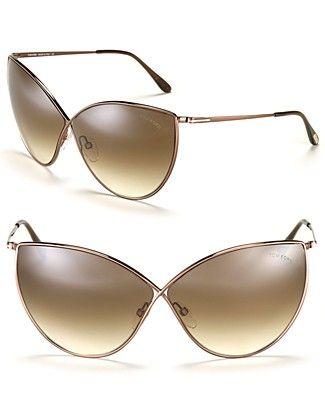 Tom Ford Evelyn Oversized Cat Eye Sunglasses | Bloomingdale's: