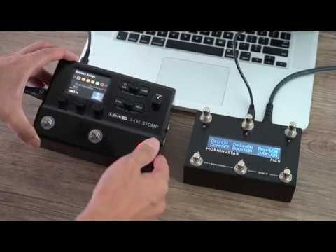 Line 6 Hx Stomp With Morningstar Mc6 Midi Controller Midi Controllers Morning Star Midi