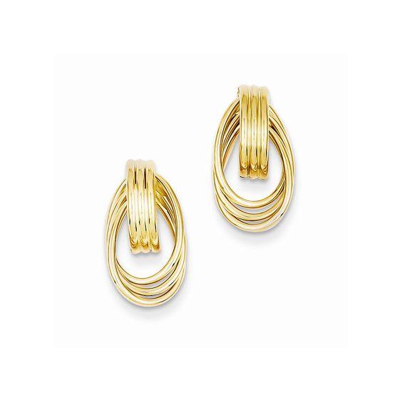 14k Polished Fancy Post Earrings
