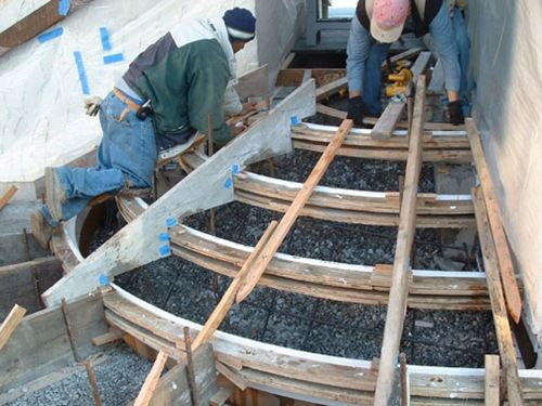 Concrete Stairs Yard Building Concrete Steps For Your