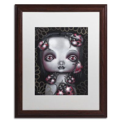 Trademark Art 'Ladybug Girl' by Abril Andrade Framed Graphic Art