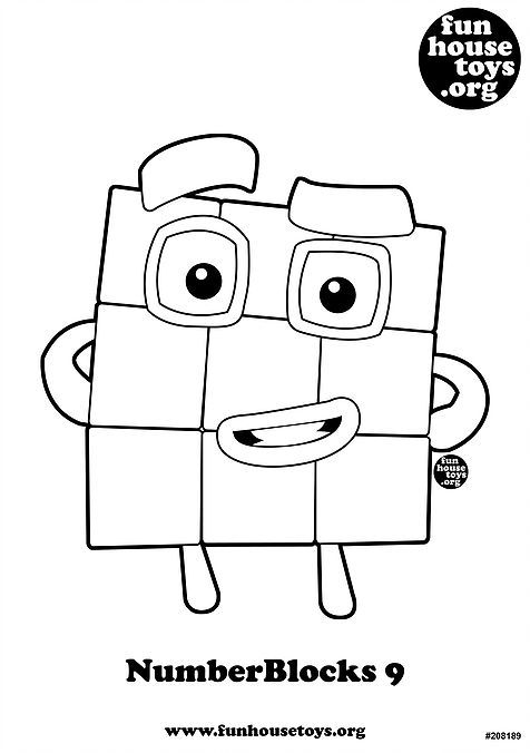Numberblocks 9 Printable Coloring Page Coloring For Kids Free Printable Coloring Pages Coloring Pages For Kids